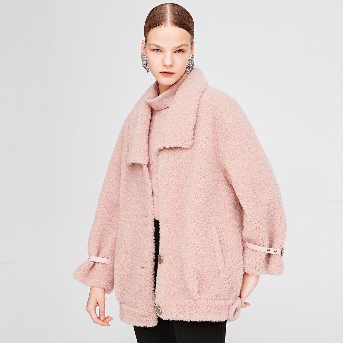 诗篇影儿诗篇2019年冬季新品时尚纯色宽松短外套6C5958023782