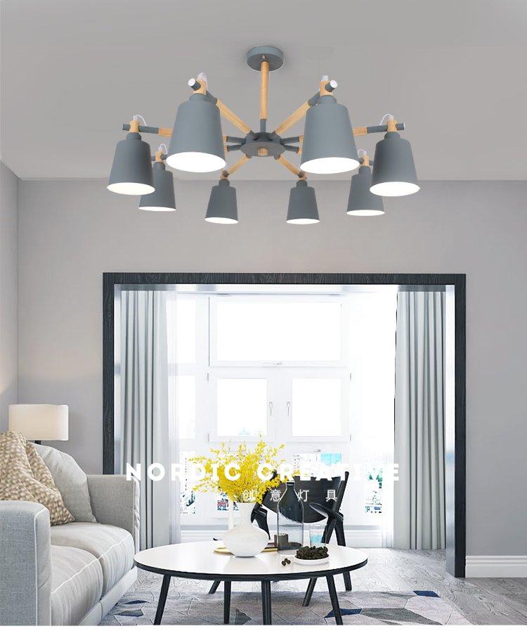 現代北歐風馬卡龍客廳燈餐廳臥室吊燈 燈具