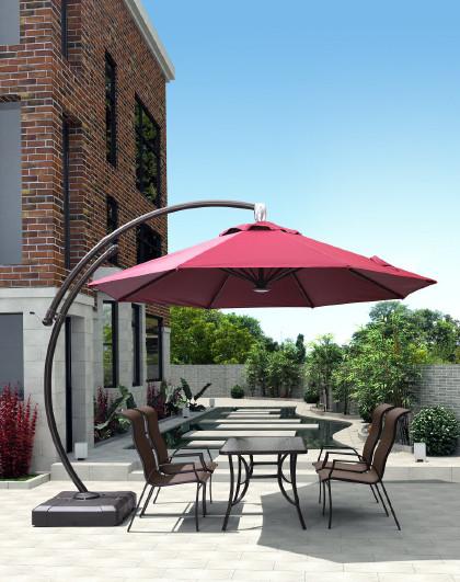 户外遮阳伞罗马伞别墅庭院休闲伞室外景区花园露台大太阳伞