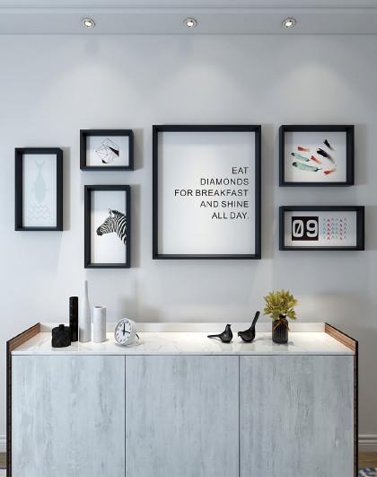 北欧风格装饰画组合客厅沙发背景墙现代简约壁画墙画餐厅墙面挂画图片