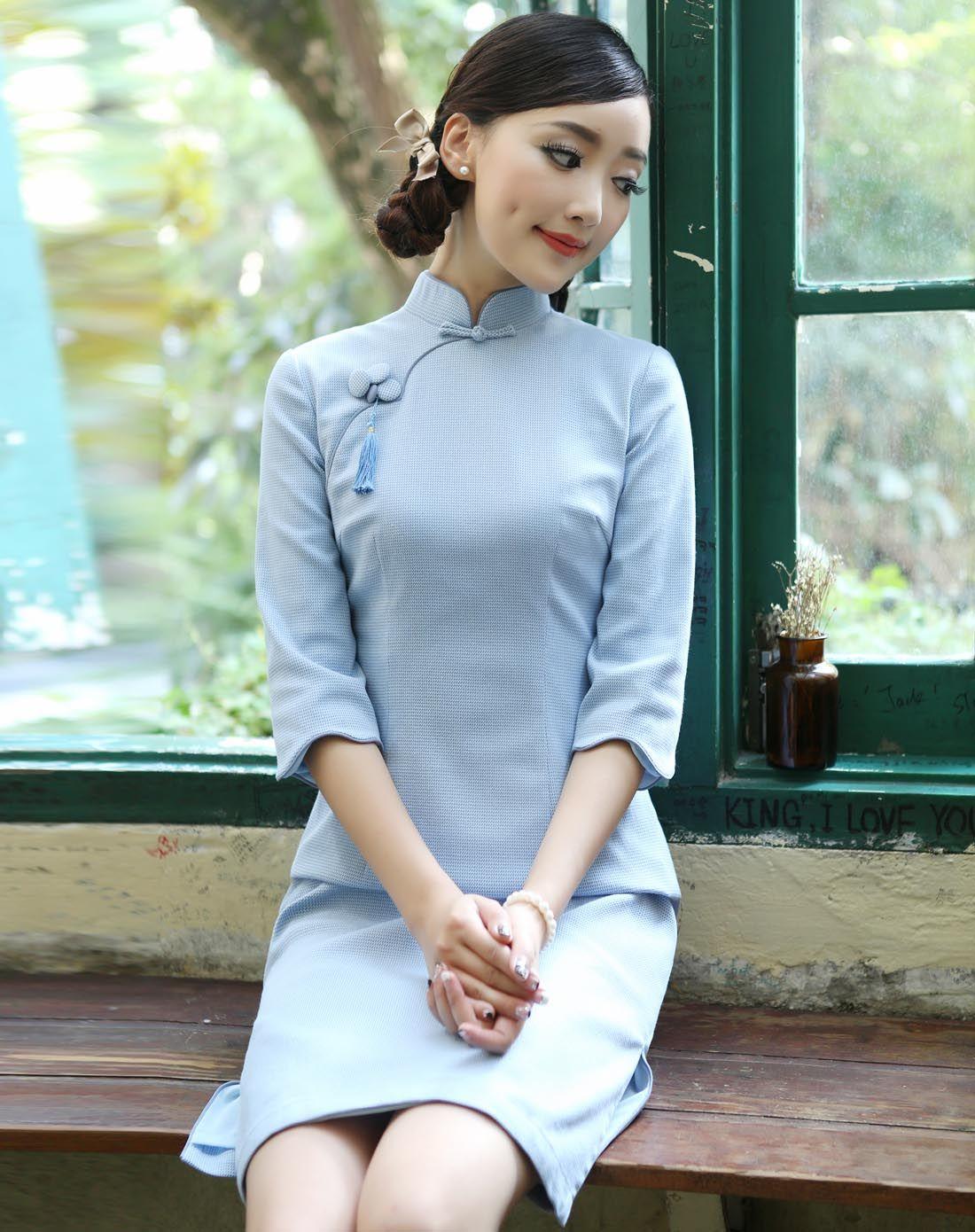 苏丽 日常短款复古改良旗袍