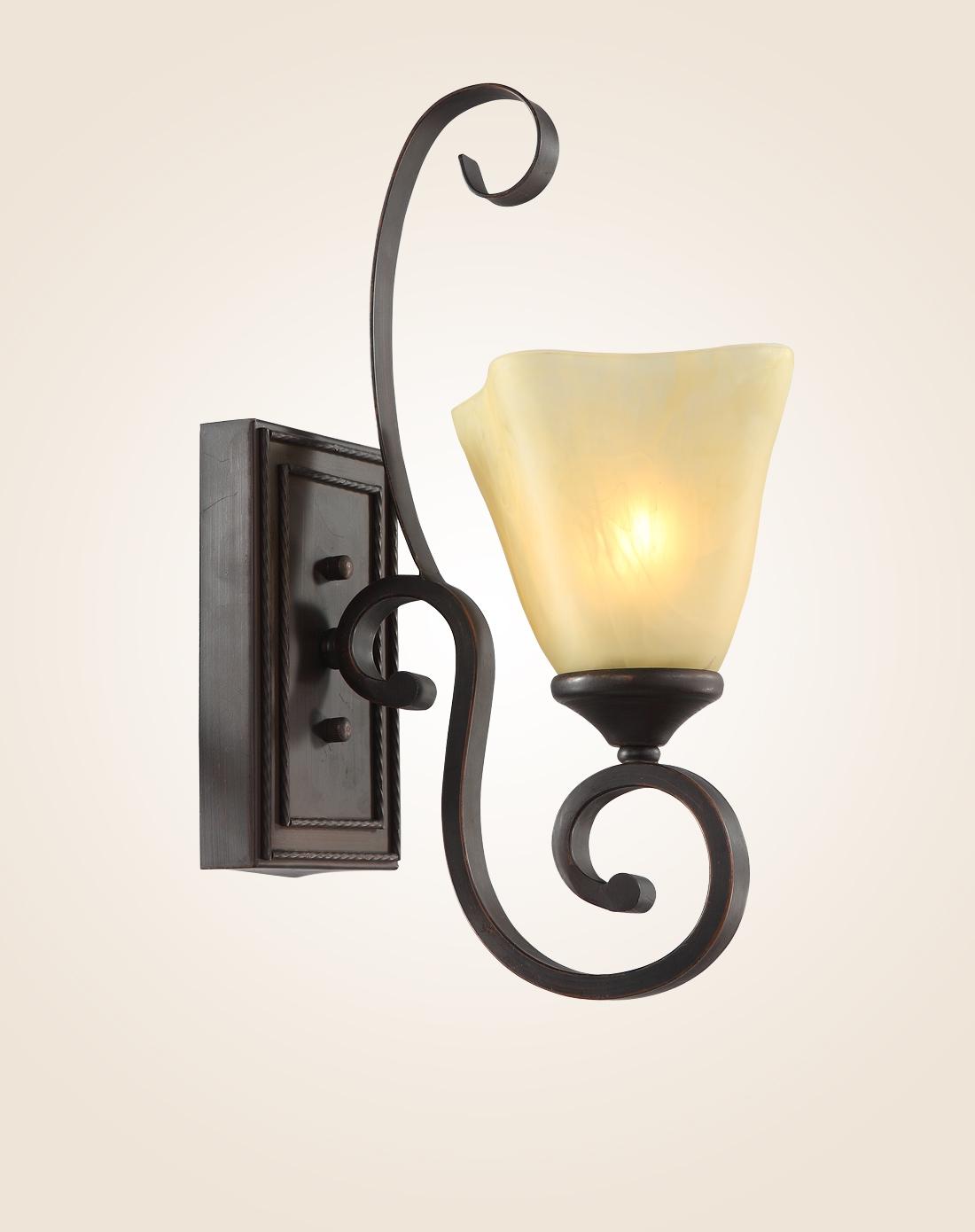 经典美式壁灯 复古铁艺客厅灯具