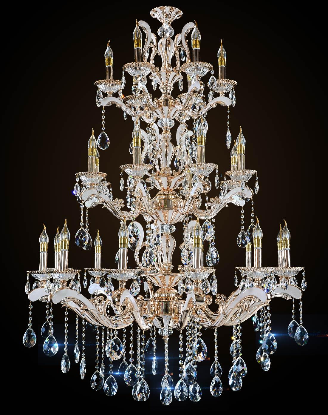 三层欧式水晶吊灯