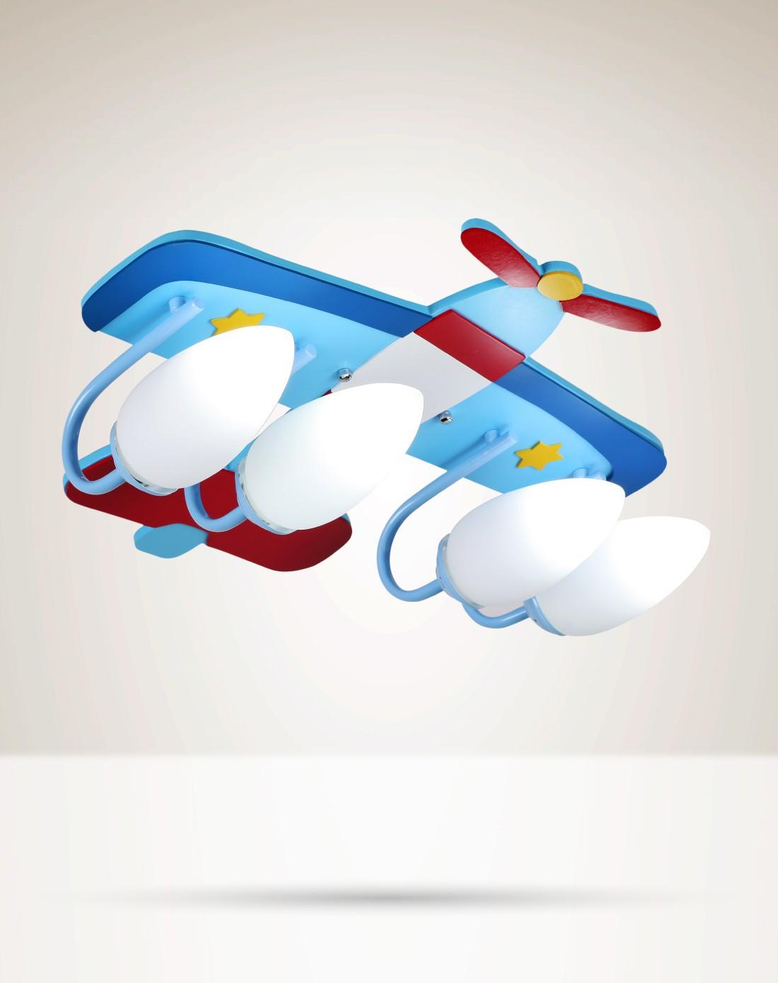 壹朵灯饰专场喷气式飞机创意卡通立体造型四座儿童吸