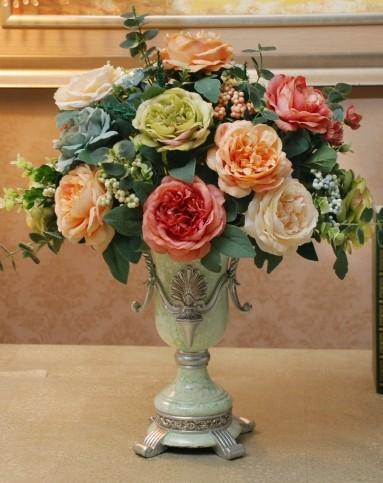 餐桌玄关装饰品-高档花瓶欧式油画花艺b