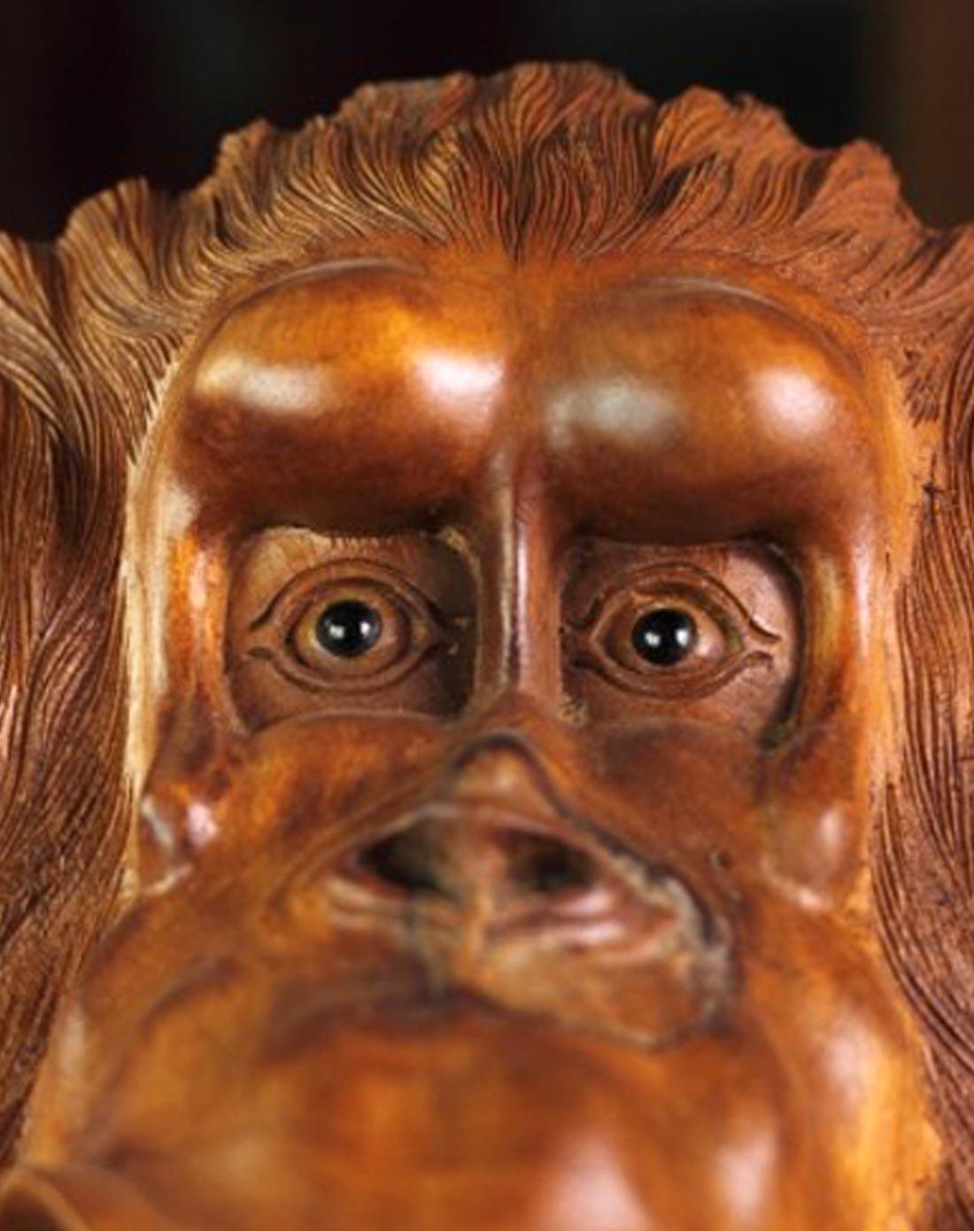 壁虎小屋家居印尼木雕动物头造型壁饰别墅会所墙饰