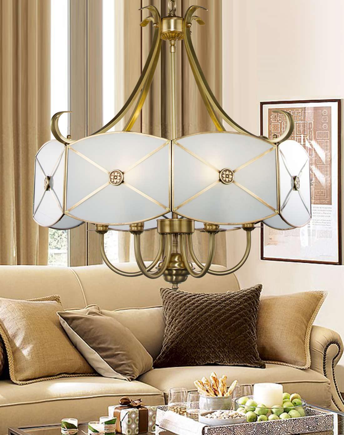 吊灯欧式复古全铜灯饰餐厅灯客厅卧室灯