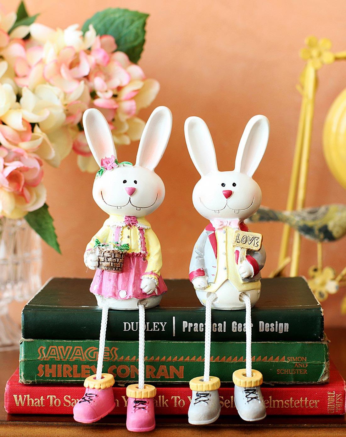 清新恋情可爱兔兔情侣装饰品 a款