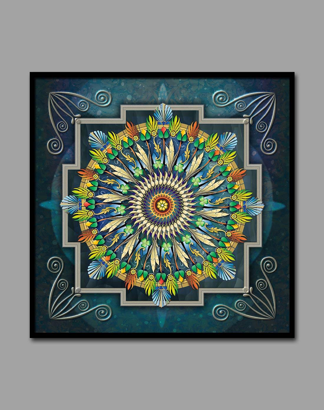 古典艺术装饰画 民族花纹