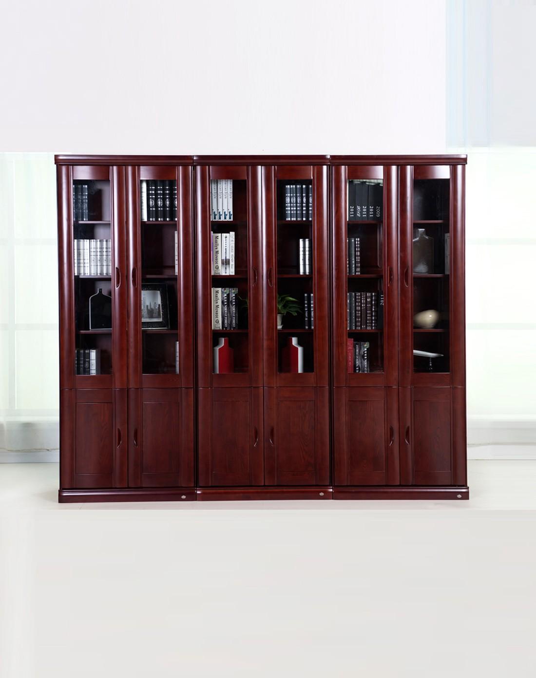 华日家具专场华日家居全实木两门储物书柜dsc000056