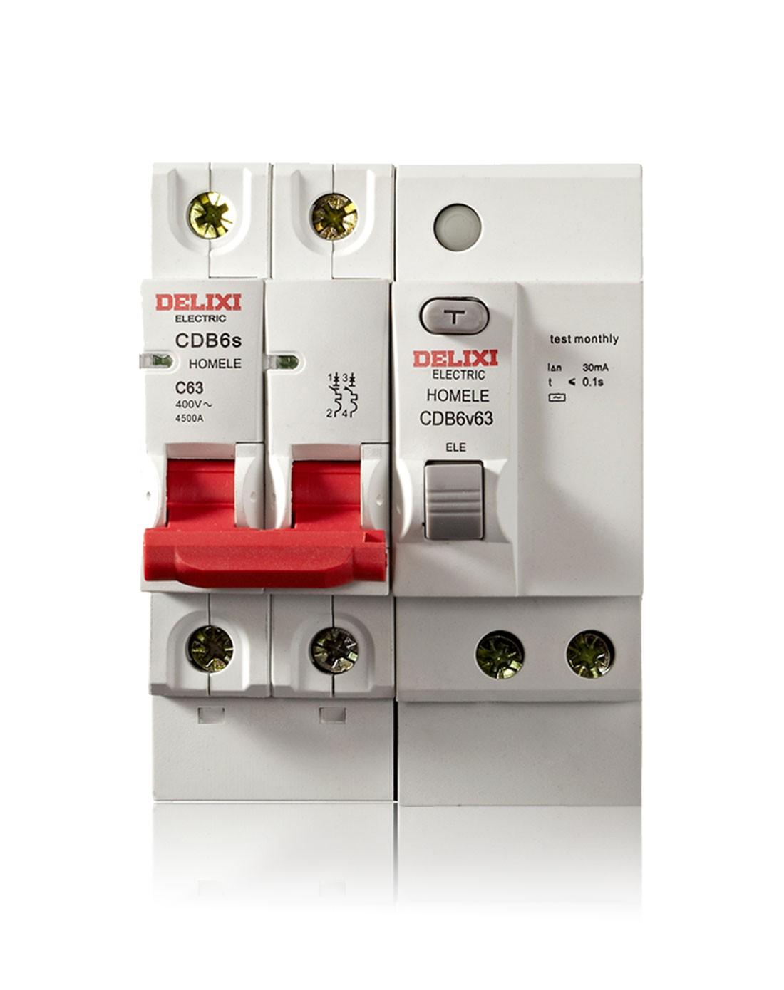 新款 断路器空气开关2p63a带漏电保护器