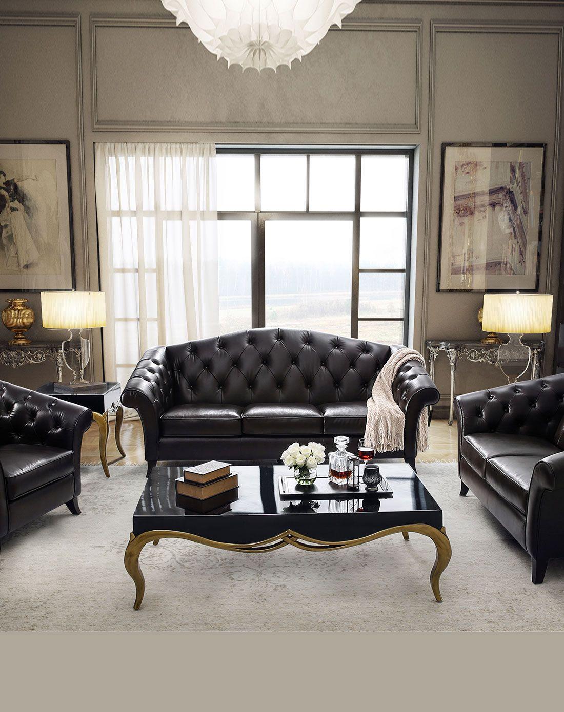 简欧式小户型客厅皮艺沙发组合