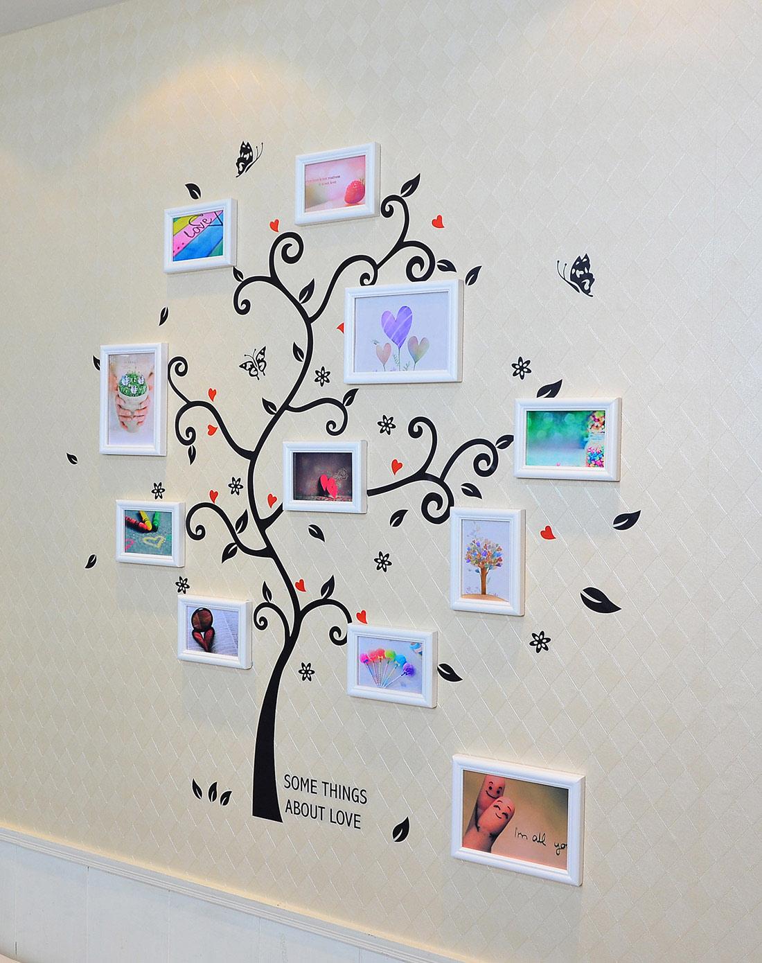 11框幸福树照片墙墙贴组合