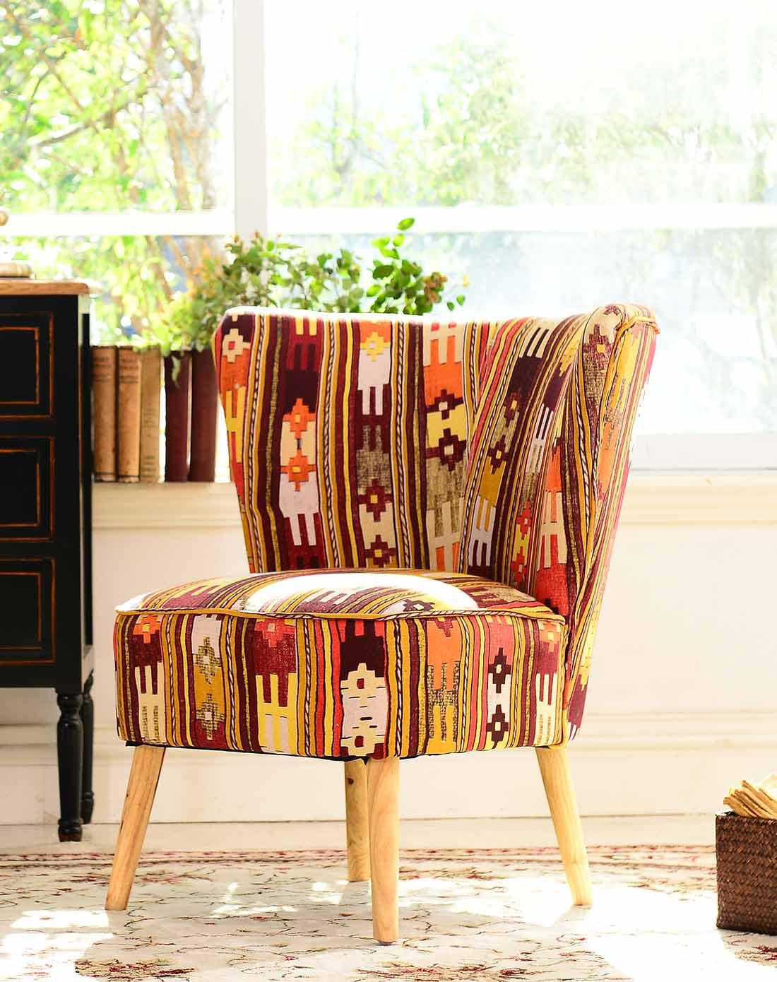 美式实木家具 卡西尔布艺单人沙发单椅 a款图片