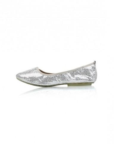 2015年新款银色闪光片时尚系列休闲单鞋
