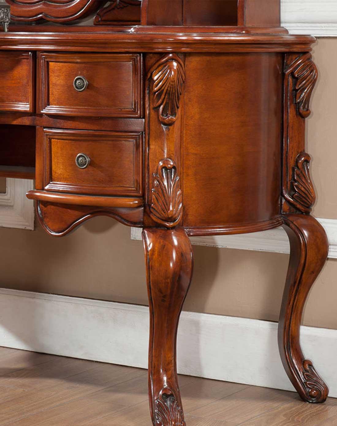 实木雕刻梳妆台组合 限量版
