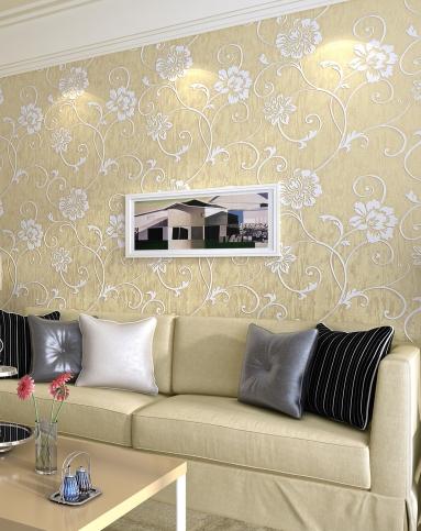 纸尚美学墙纸专场欧式简约风格立体浮雕3d壁纸3d2203