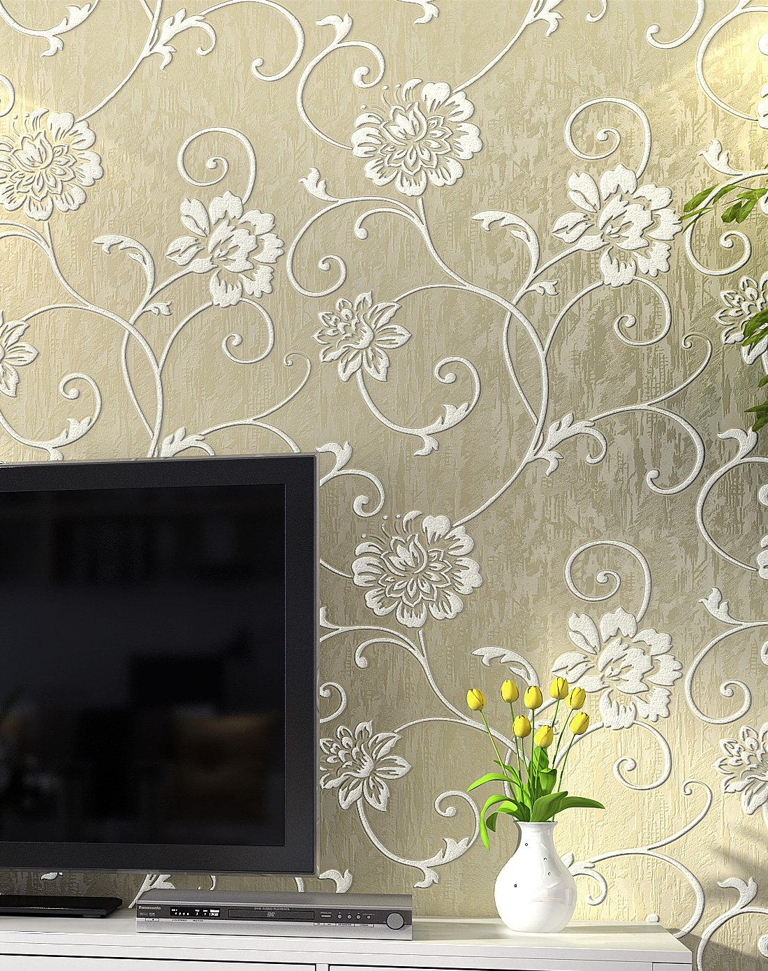 纸尚美学墙纸专场欧式简约风格立体浮雕3d壁纸3d2201图片