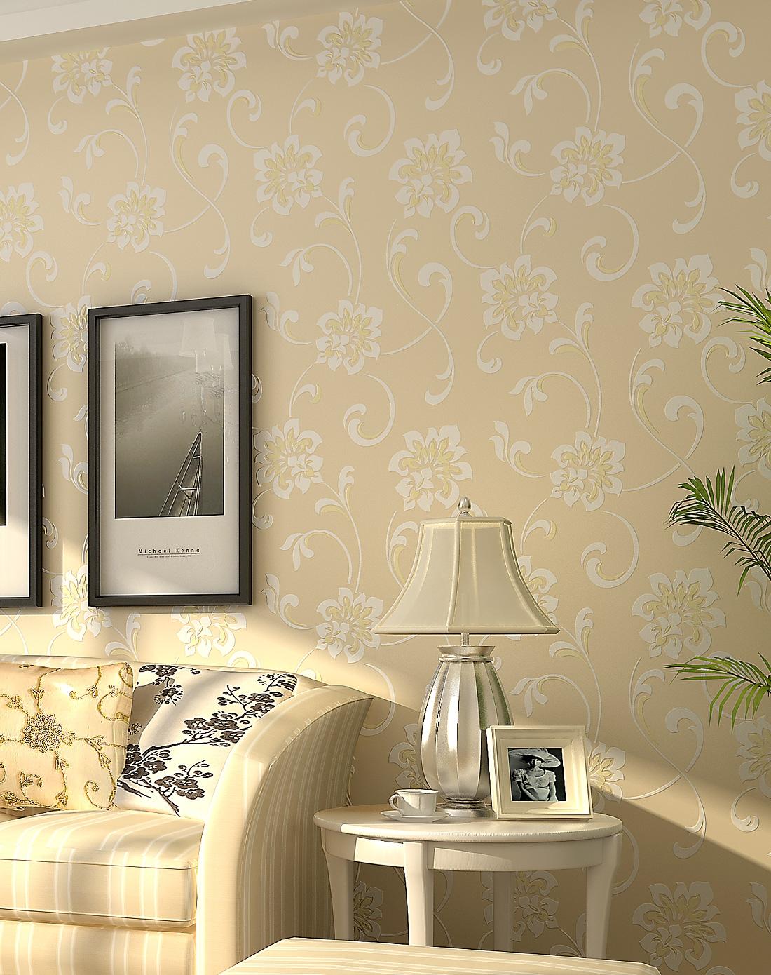 纸尚美学墙纸专场欧式简约3d立体圆网客厅卧室壁纸b