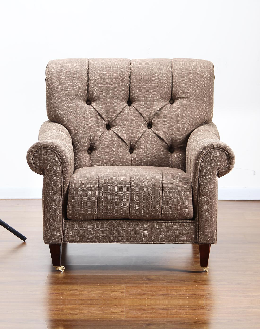 欧式布艺舒适单人沙发 高档老虎椅