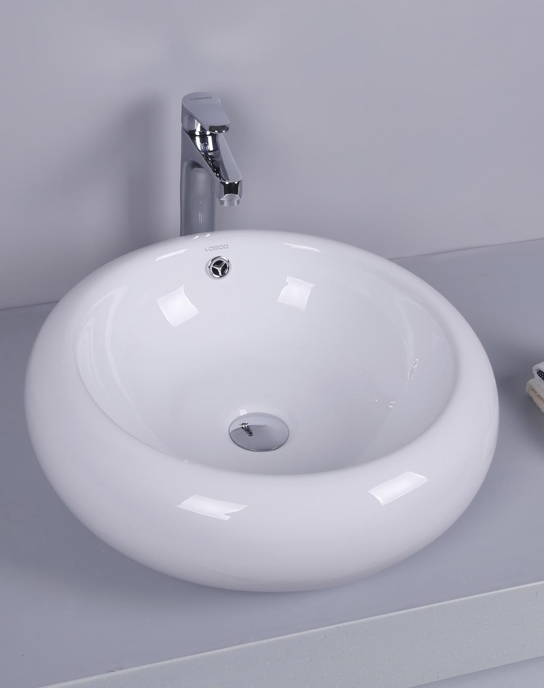 卫生间欧式陶瓷圆形艺术台上盆