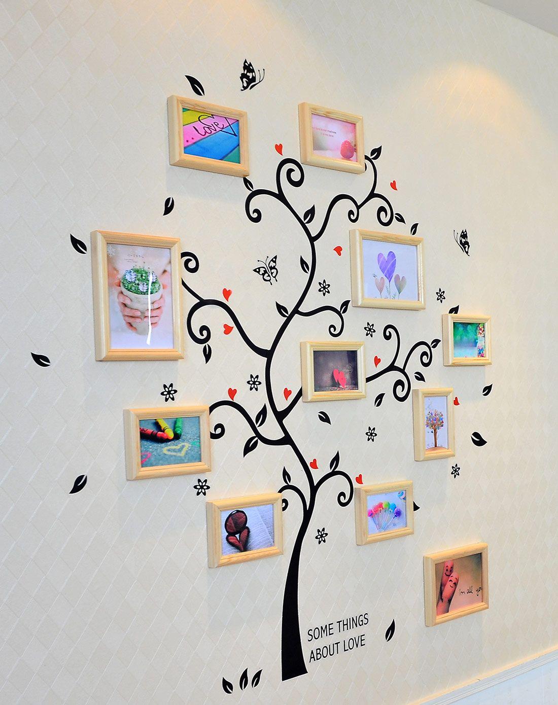 梓晨照片墙专场幸福树照片墙墙贴组合hd-308