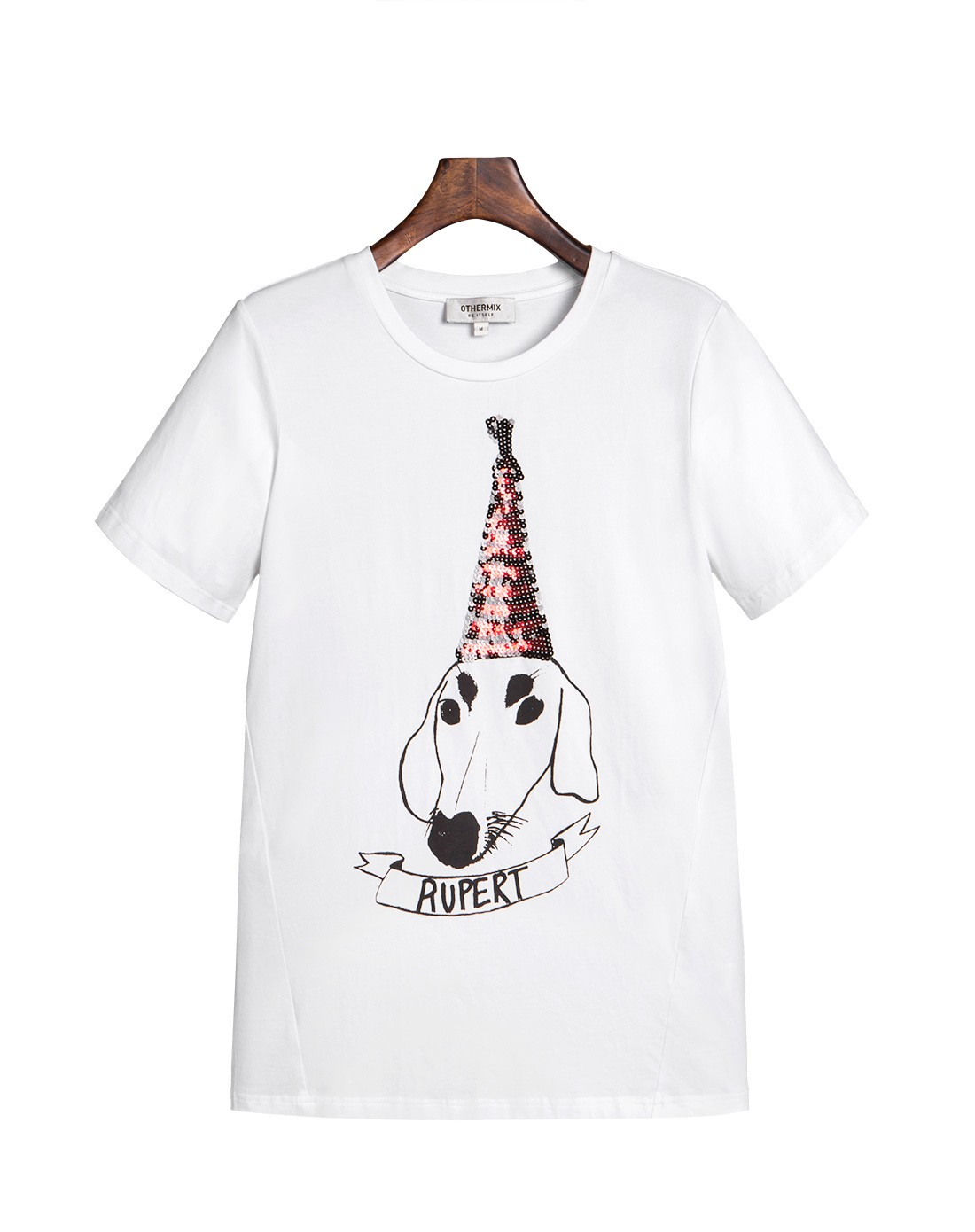 白色 创意动物印花t恤