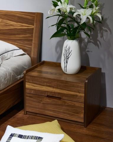 几度jidu家具专场北欧时尚简约胡桃木床头柜rn-01