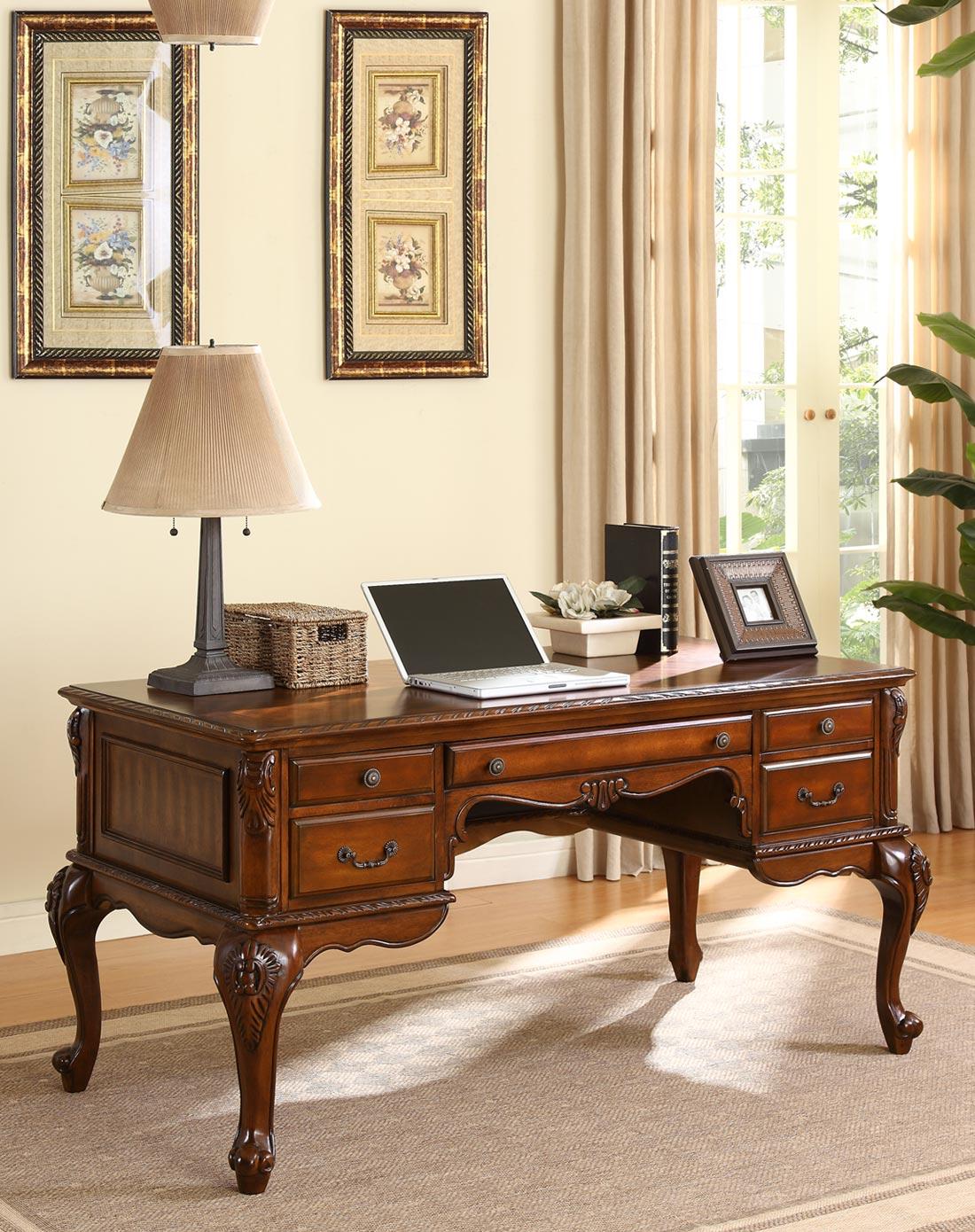 美式简约实木书桌 办公桌