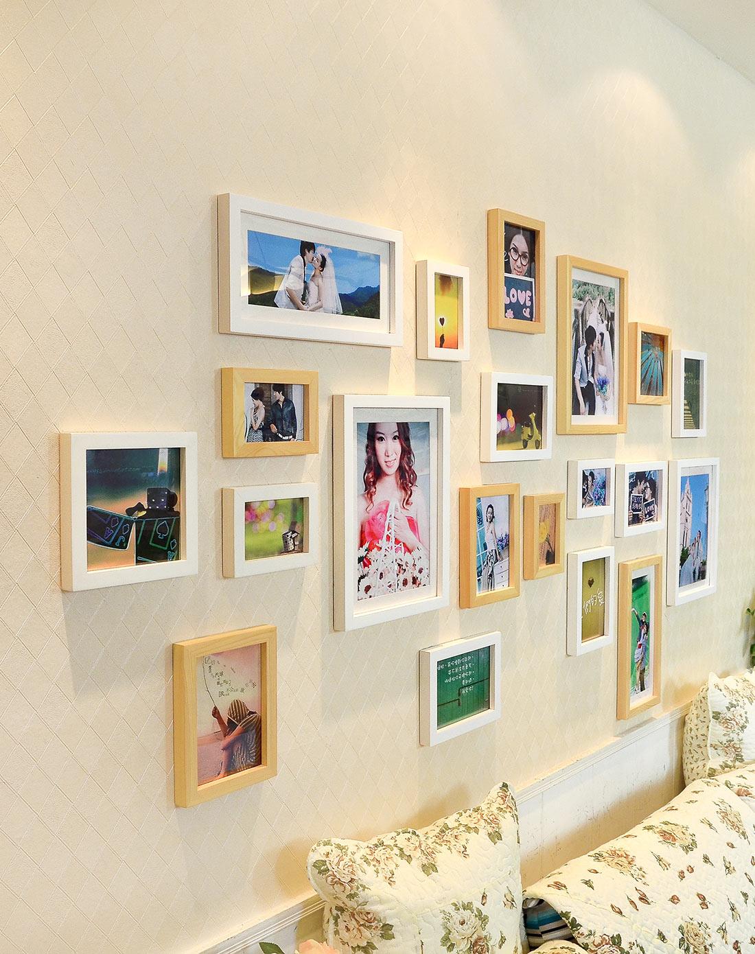 20框适合结婚照的照片墙组合