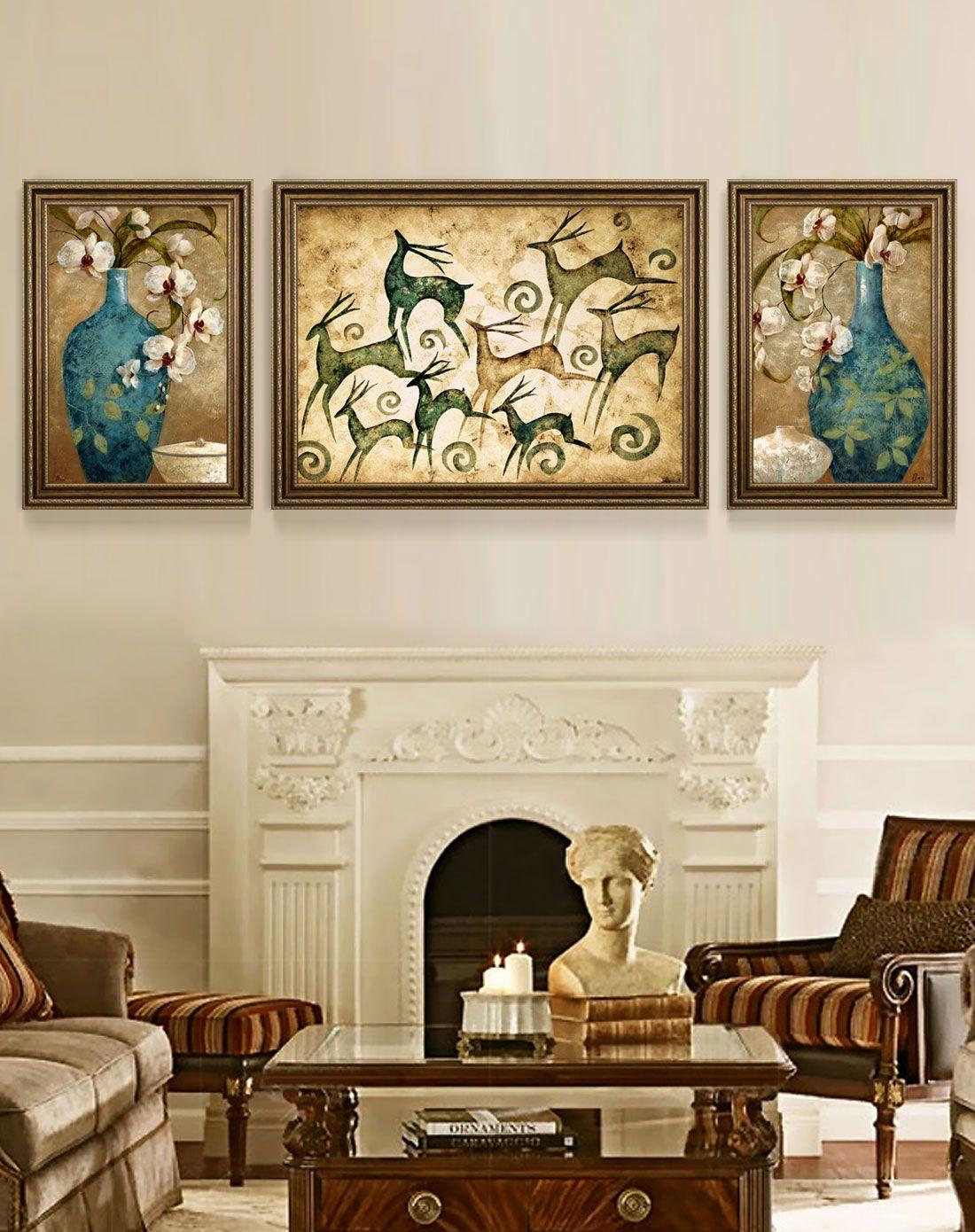 柠檬树家居装饰专场美式客厅高端装饰画