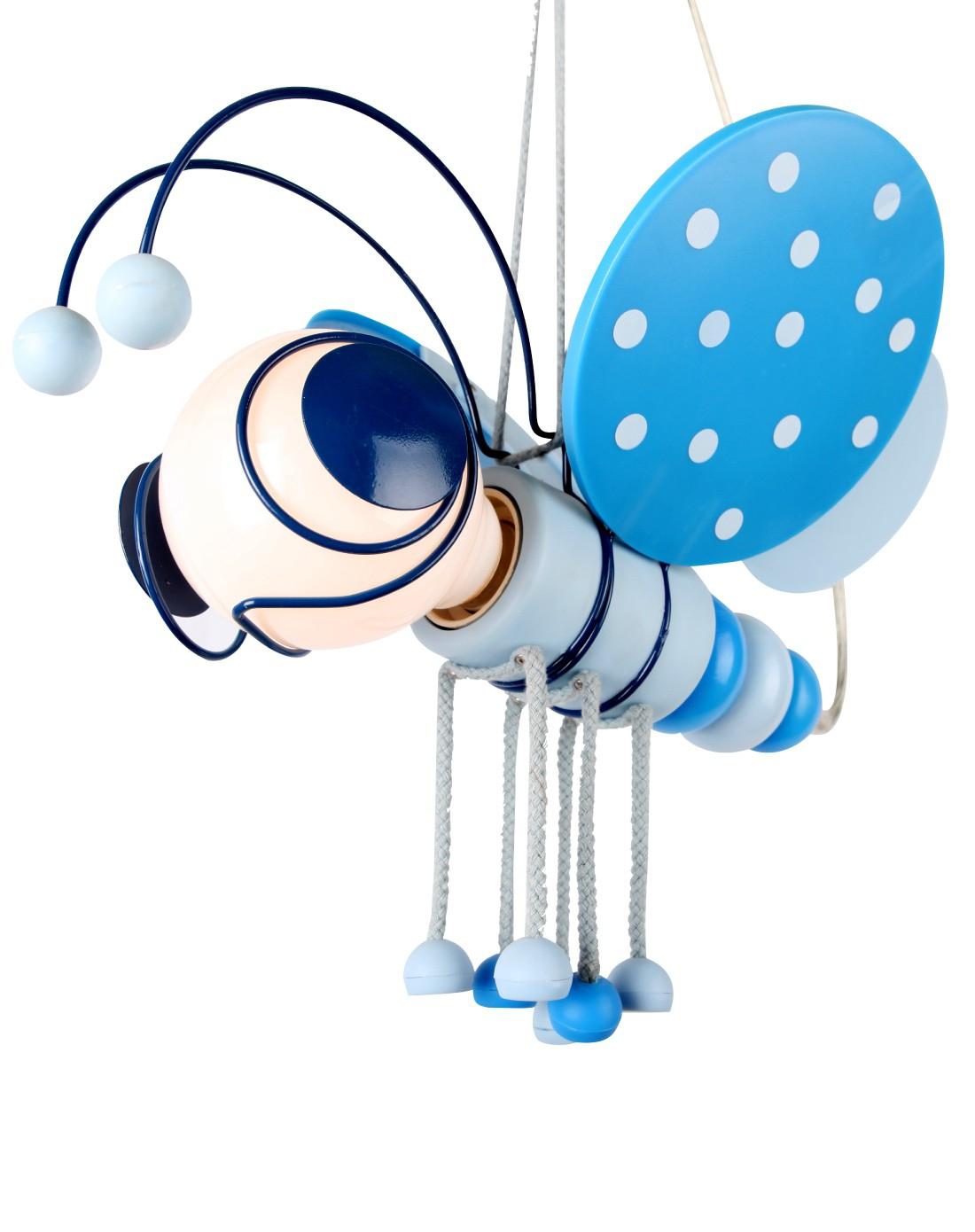 蓝色小蜜蜂创意卡通立体造型儿童吊线灯送光源