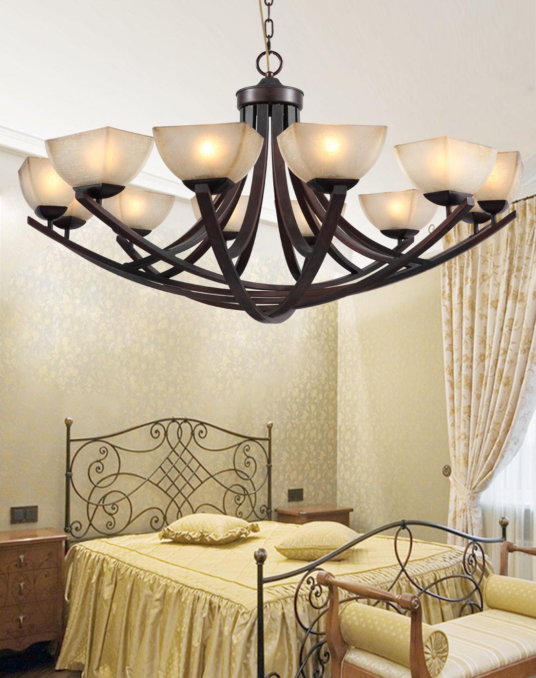 美式客厅灯 复古铁艺乡村灯具 现代简约图片