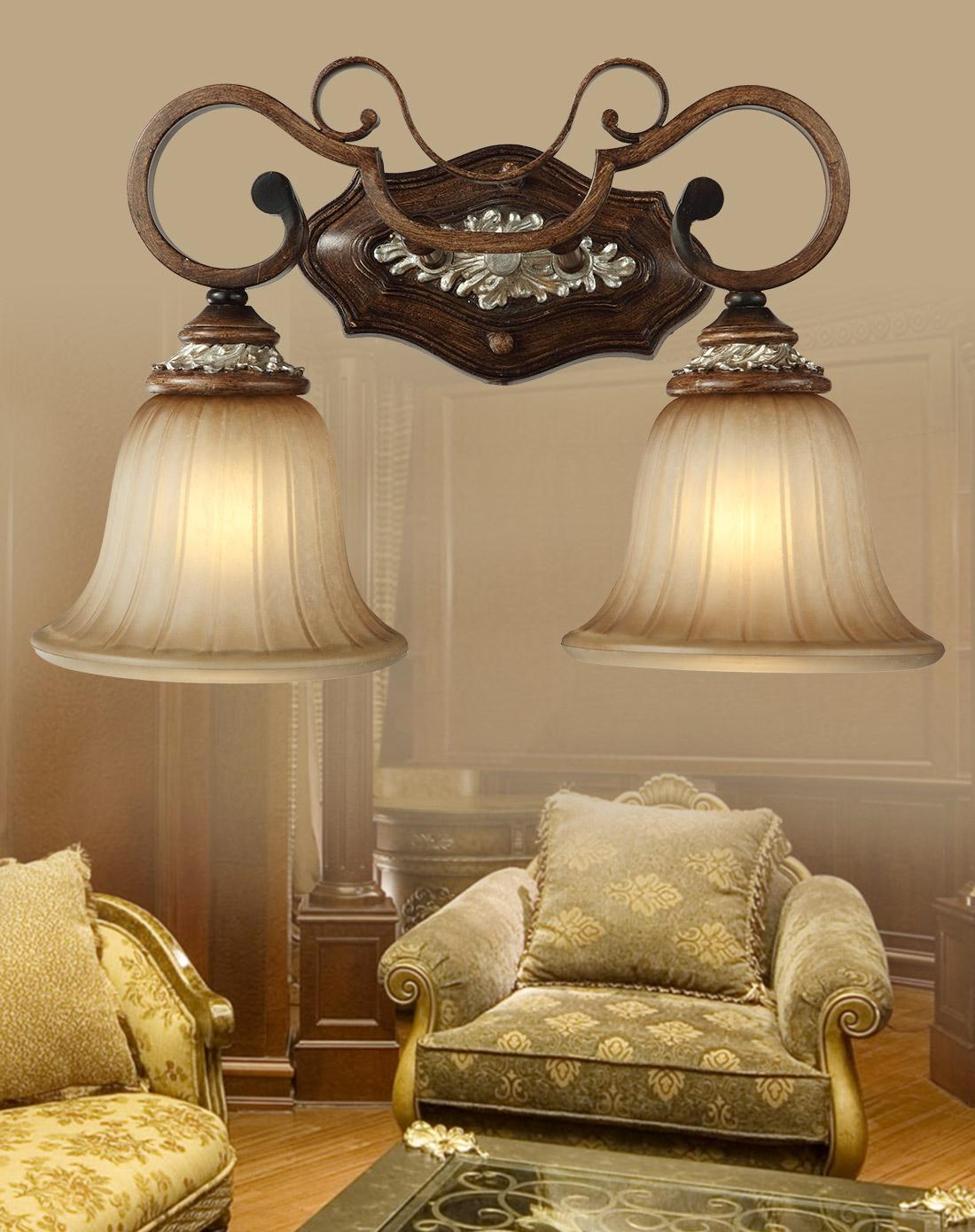 美式复古镜前灯 浴室古典灯饰图片