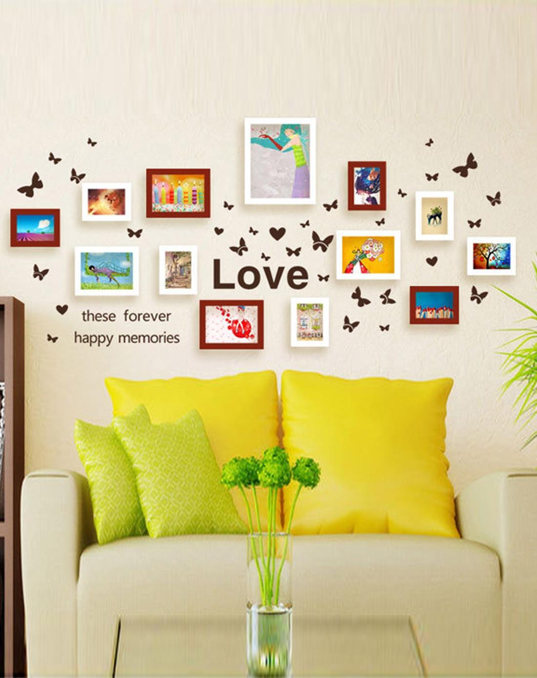 韩式木艺照片墙组合背景墙装饰