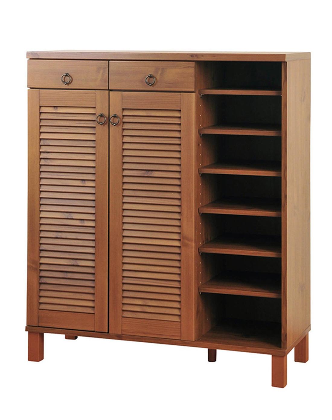 韩式全木鞋柜大容量发货快递棕色