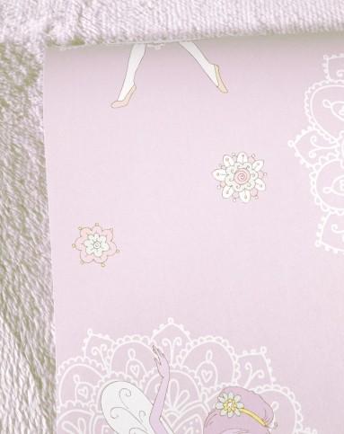 粉色卡通小女孩儿童房 花朵卧室背景壁纸