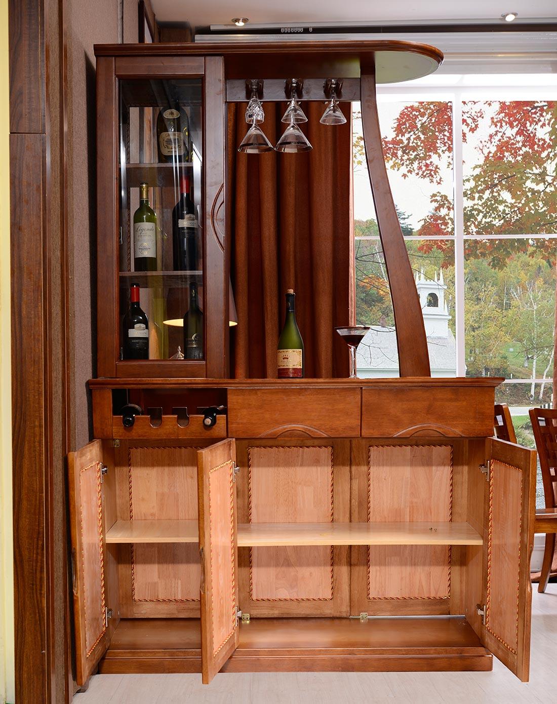 全实木酒柜现代中式间厅柜门厅玄关柜图片
