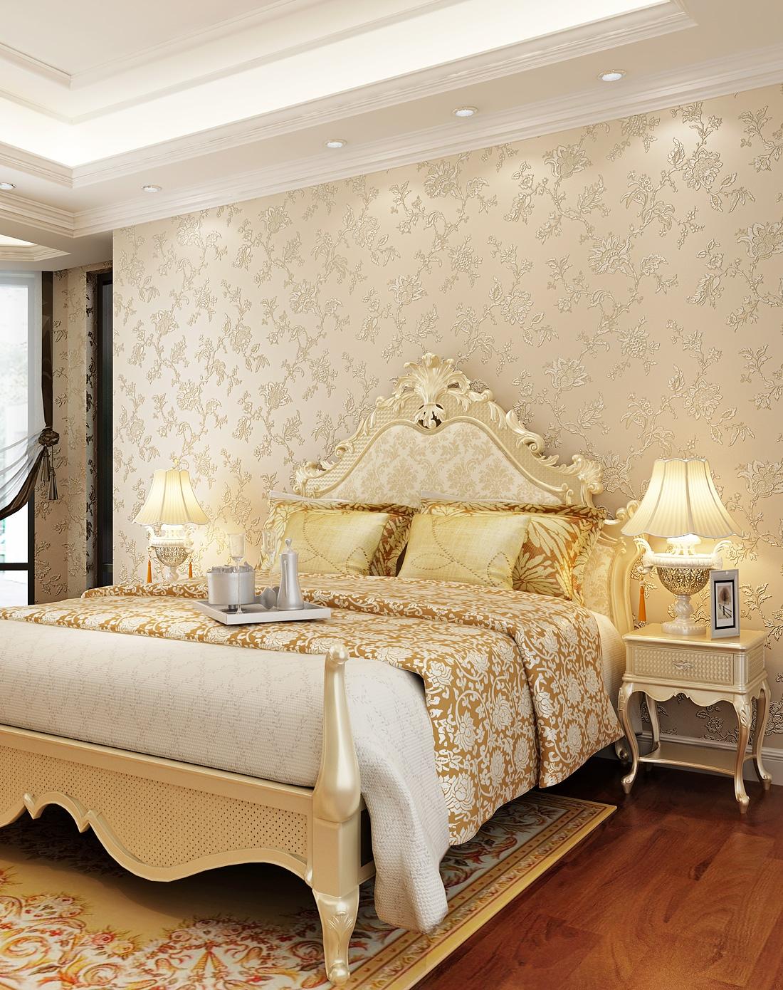 纸尚美学墙纸专场欧式简约风格立体浮雕3d壁纸2111010图片