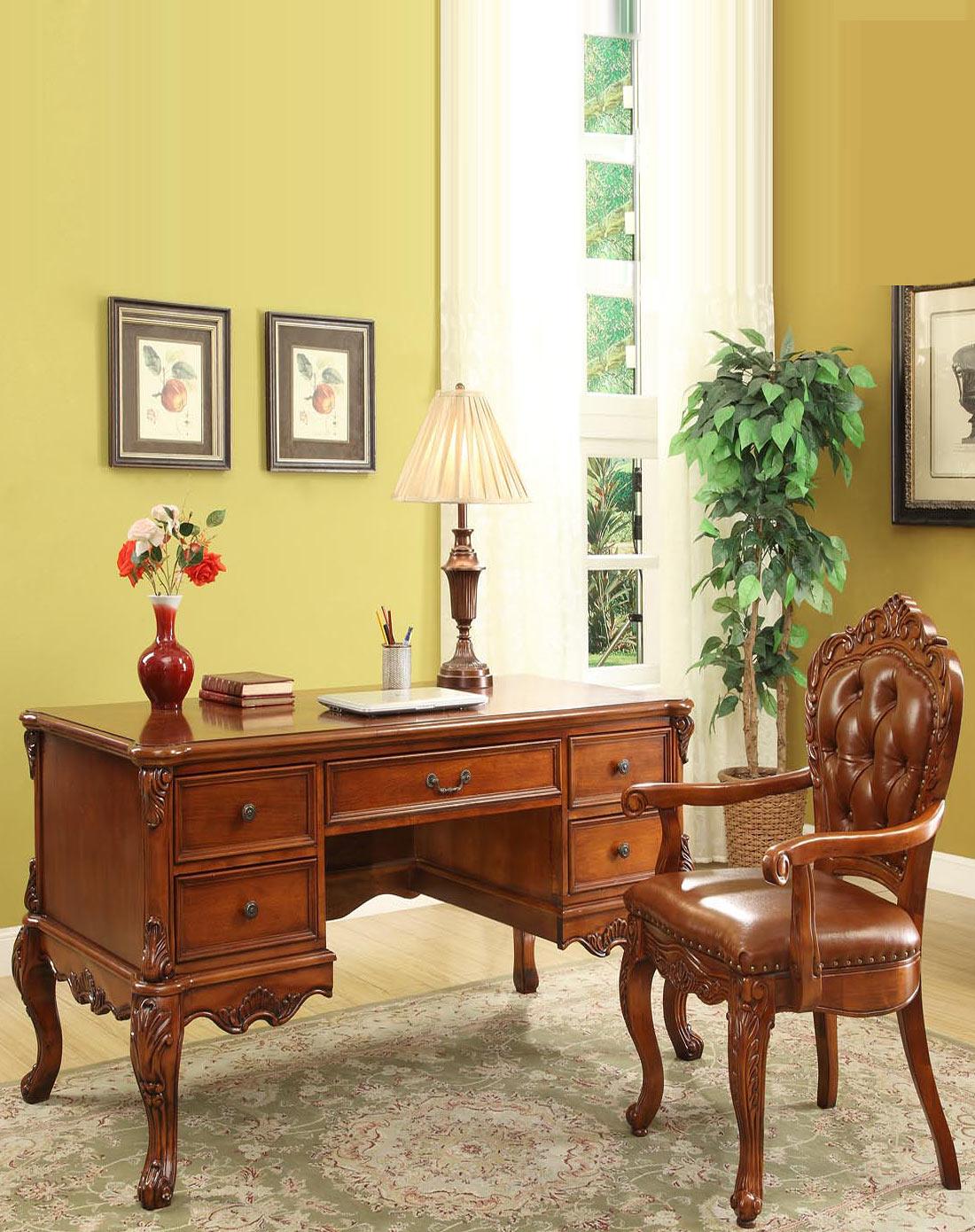 家具专场美式复古实木雕花