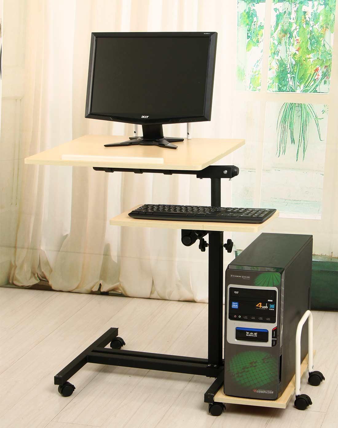 新滢铁艺床上置地电脑桌两用桌子xyqq700-sm_唯品会