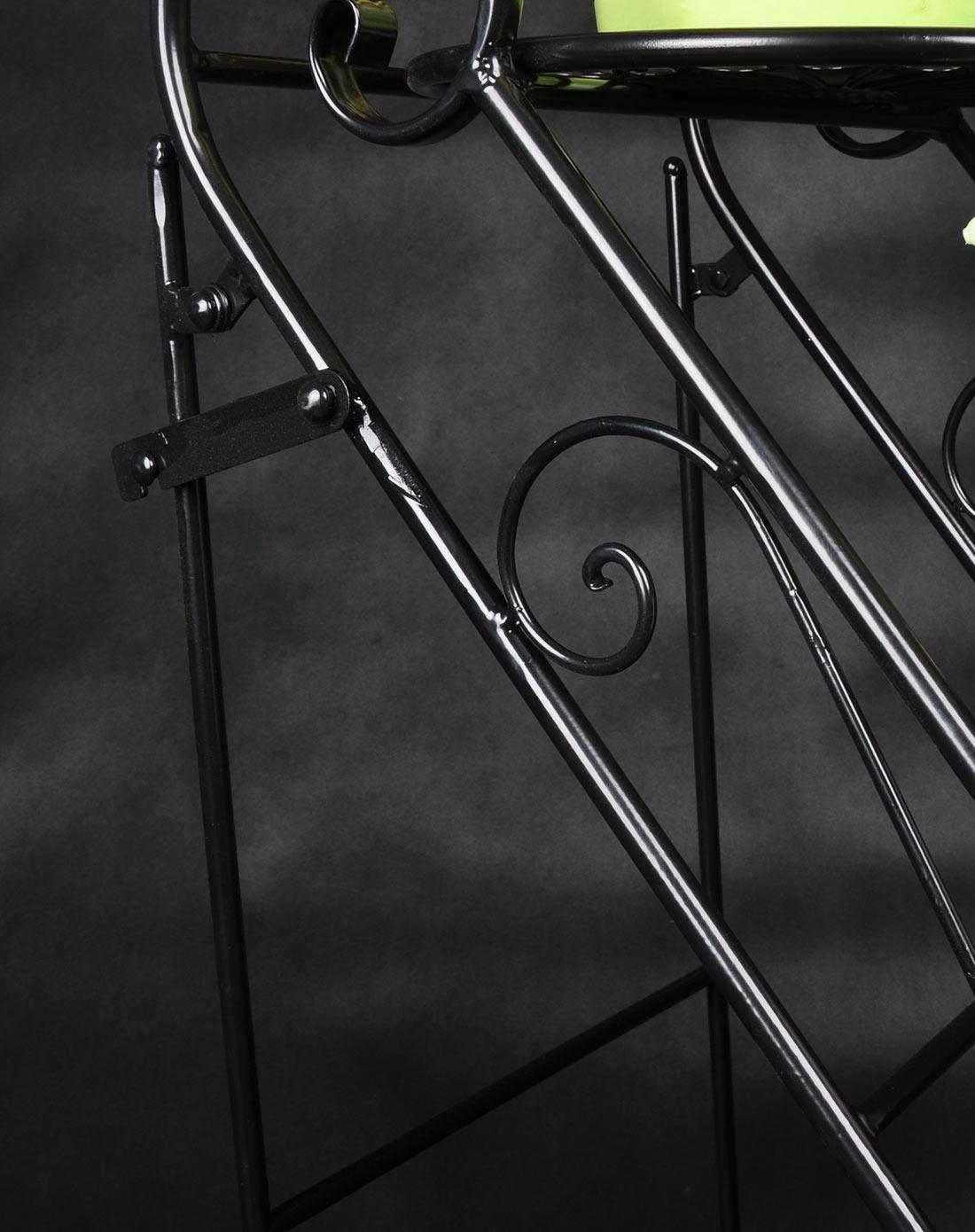 新滢铁艺黑色欧式阶梯式铁艺花架三层花盆架xy1305