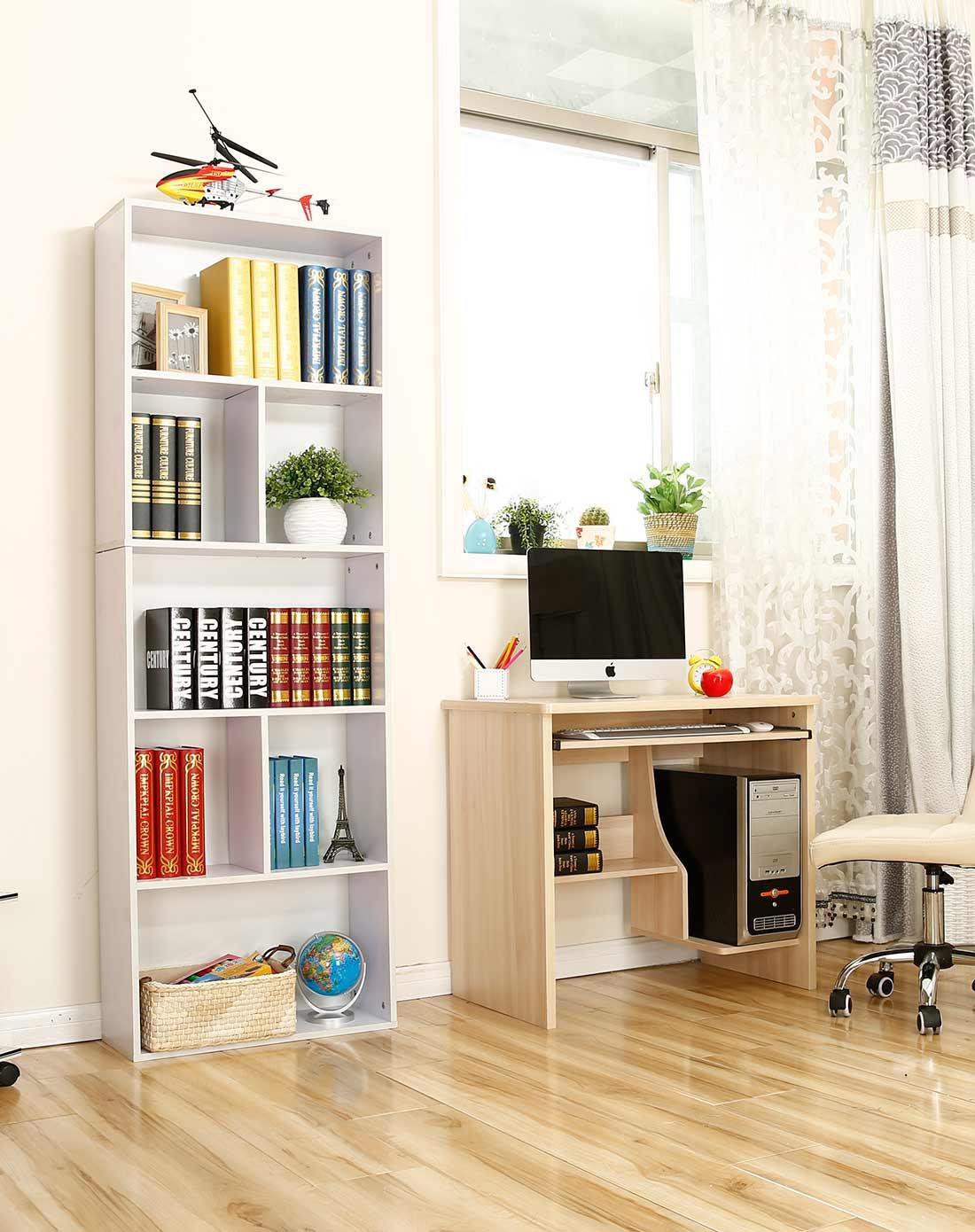 新滢铁艺白色简易书柜自由组合儿童书桌xyjmms8016