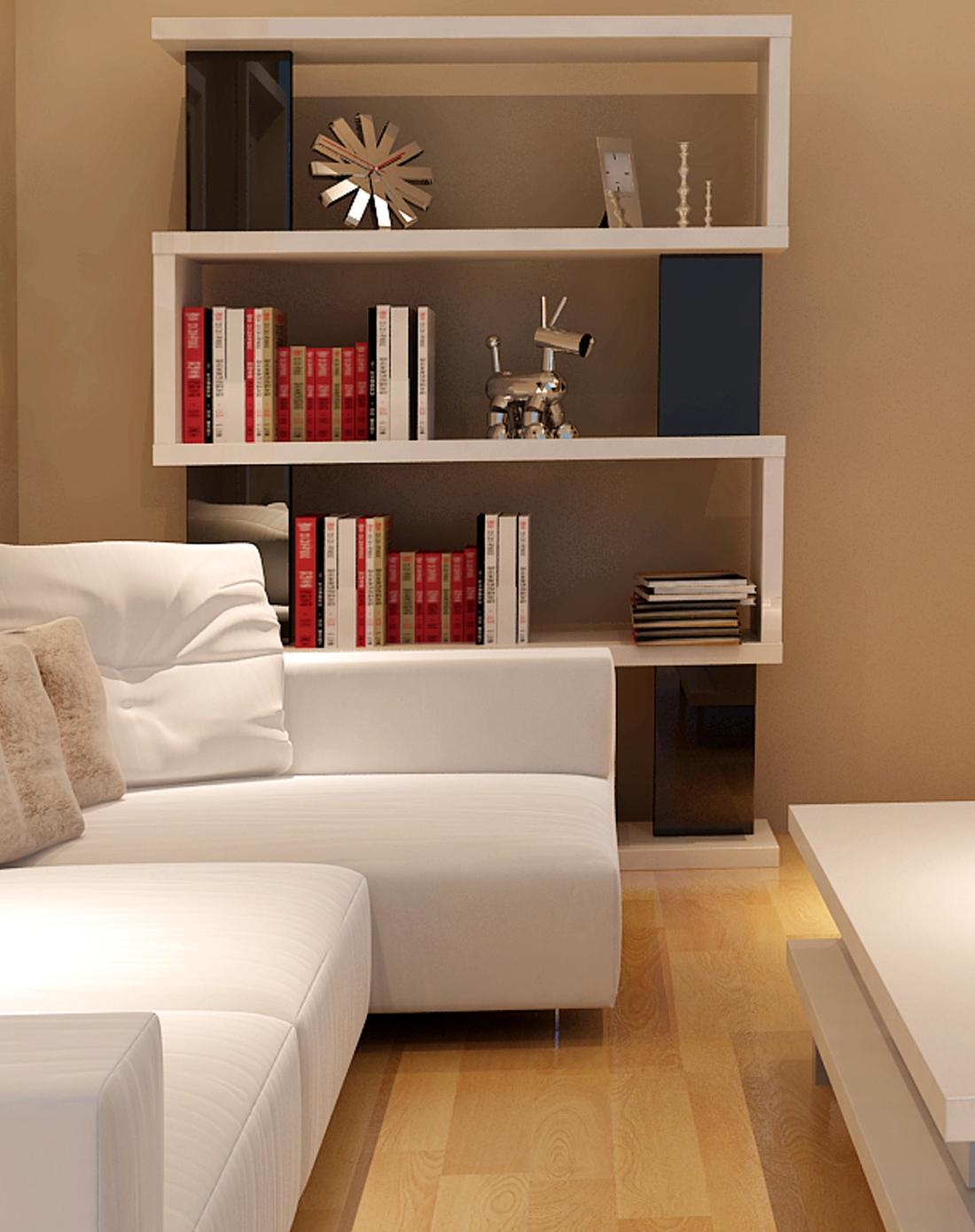经典黑白配 书架 书柜(几何型)