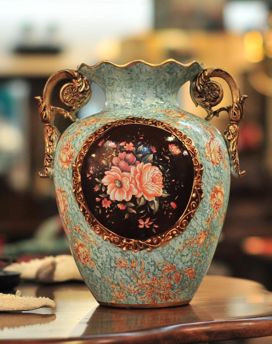 朵兰舍doolans欧式宫廷彩绘陶瓷装饰花瓶hqdw85-mf