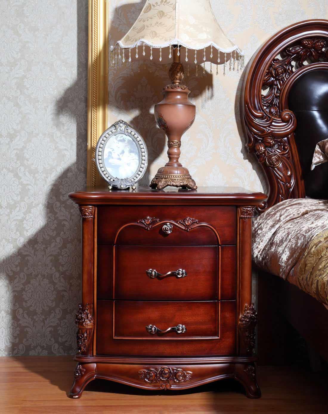 欧式古典高档床头柜