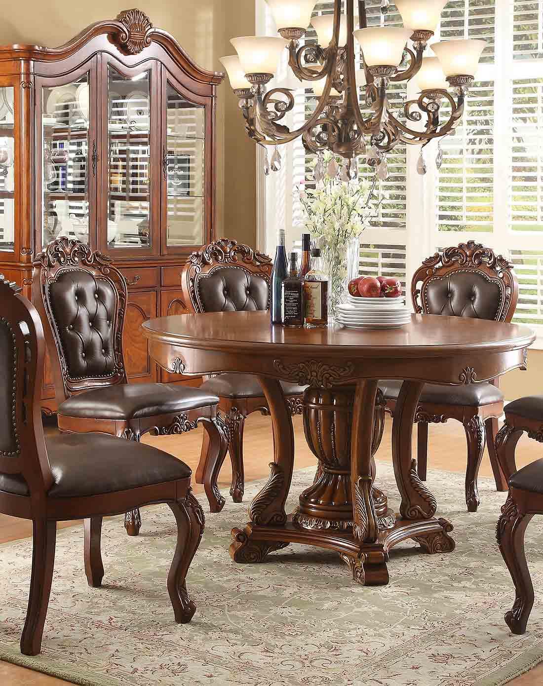 美式实木圆餐桌f98202