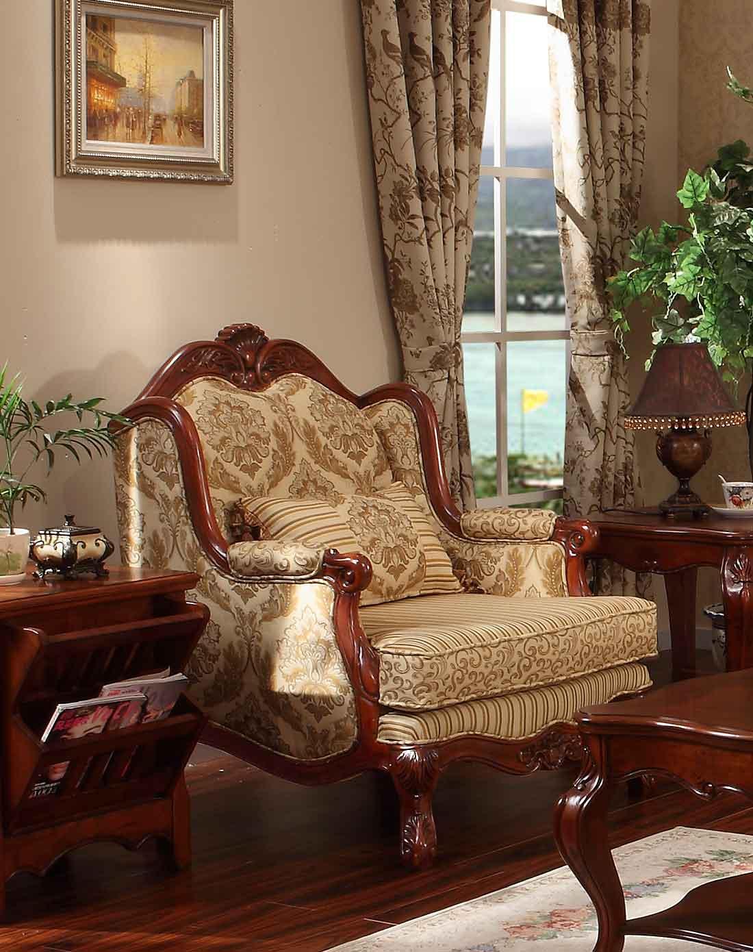 美式布艺沙发组合1 2 3 f96107图片