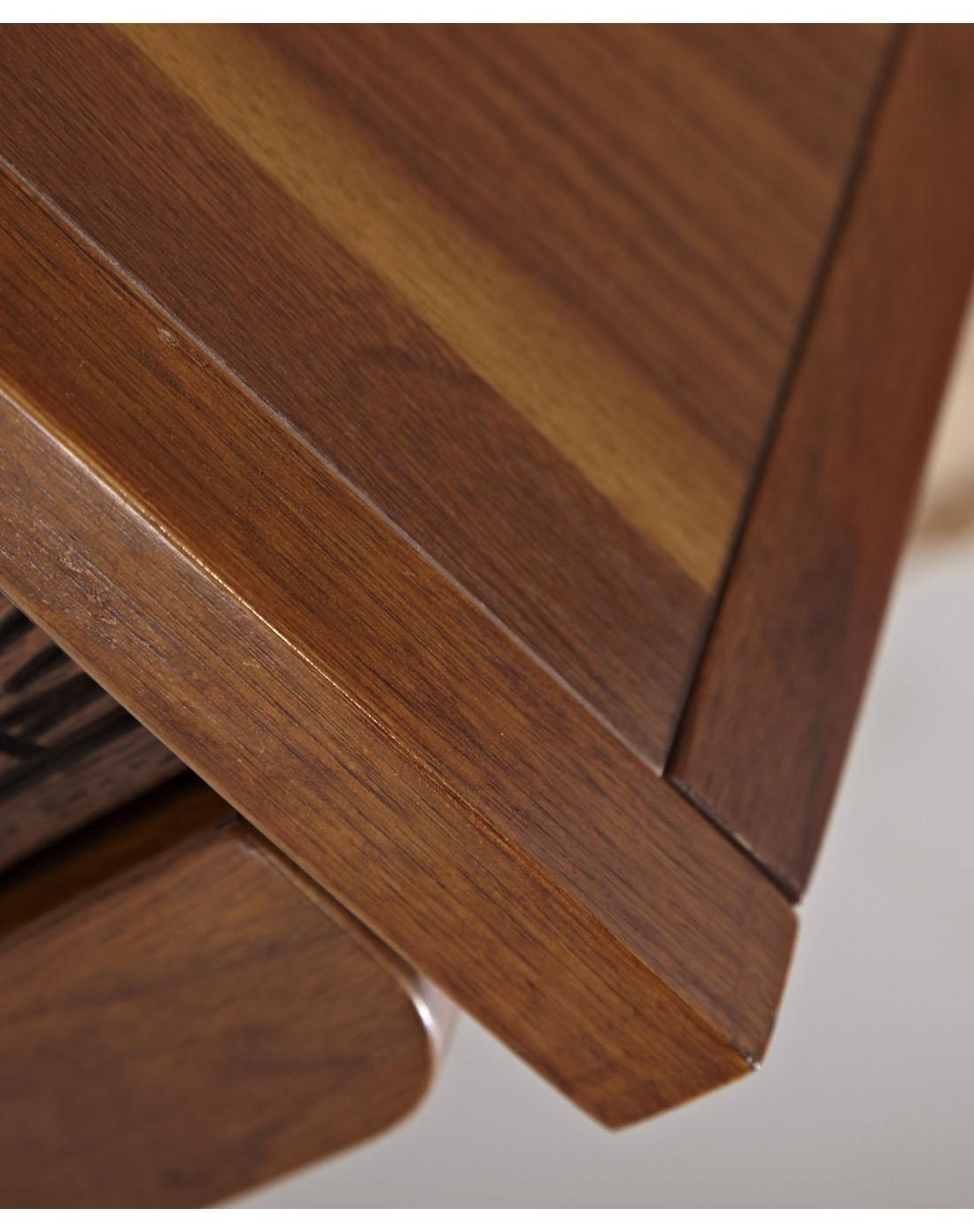 中式木纹双门鞋柜