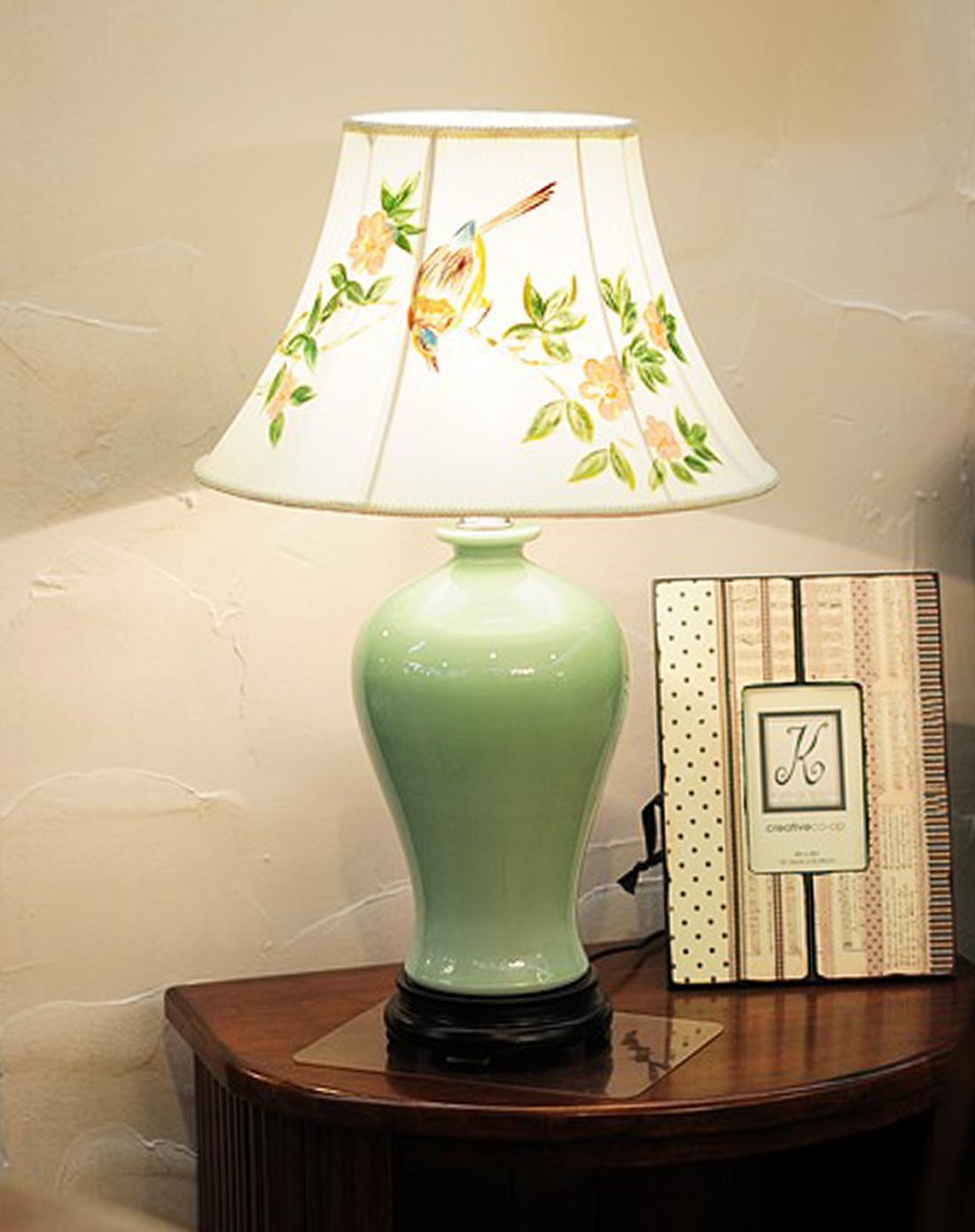 景德镇单色釉手绘陶瓷台灯